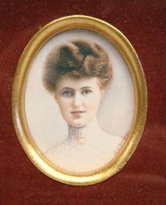 "Lot 177A \ Miniature portrait on ivory of woman signed ""J.O Brien"". Site 2"" x 2 1/2""."