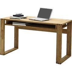 Jasmin Knotty Oak Computer Desk With 1 Shelf Computer Desk With Shelves, Home Office Computer Desk, Desk Shelves, Home Office Furniture, Furniture Design, Computer Desks, Office Workspace, Pallet Furniture, Shelf