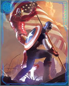 [Former Enemies] Iron Man+ -> After the war was over, Iron Man and Captain America realized that the world needed them fighting together. Civil War had brought out the worst in both of them, and taught them a hard lesson about what it means to be a true hero. (Use referal code vnt030182 for a rare card!)