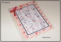 Liebe & Freundschaft - Klapp Karte  - ein Designerstück von Sanndyline bei DaWanda