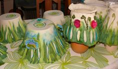 example how to style these lampshades, i sell them blanco