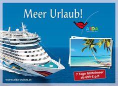 AIDA Cruises: Outdoor 2012 | Meer Urlaub | By Smolej & Friends, Vienna | www.smolej.at Vienna, Friends, Cruise, Advertising, Creative, Movie Posters, Movies, Outdoor, Advertising Agency