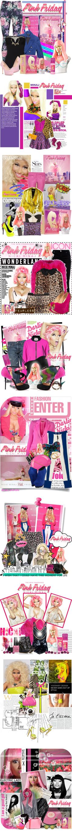 """""""Totally Fearless with Pink Friday Nicki Minaj"""" by bellerouge ❤ liked on Polyvore"""