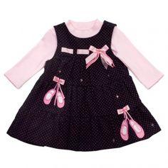 NB-Infant Pindot Ballet Slipper Dress