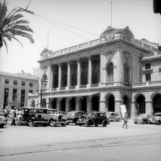 Teatro Municipal de Santiago en el año 1955. Cerro Santa Lucia, San Diego, Old Pictures, Past, Street View, History, Country, Style, Santiago