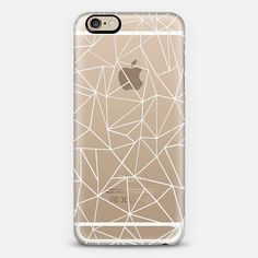 Abstraction Outline White Transparent - New Standard Pastel Case