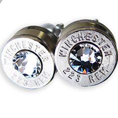 Bullet earrings (smoke)! Get yours today at: shop.trucktraderz.com #bulletearrings