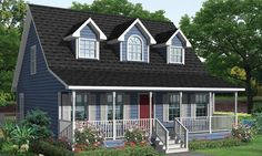 The Cambridge Plan has a wide porch and a spacious living area. What's not to love? #UBH #UBHFamily #CustomBuilt