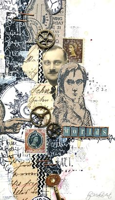 "Art journal page ""Several worlds""... Welcome again! This time I would like to share with you my latest art journal page, called   Several worlds ... I..."