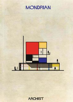 What Would A House Designed By Mondrian Or Anish Kapoor Look Like?   http://www.yatzer.com/archist-federico-babina