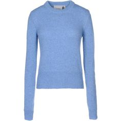 8 Jumper (€61) via Polyvore featuring tops, sweaters, pastel blue, crew sweater, blue crew neck sweater, pastel sweater, crew neck sweaters e wool sweater
