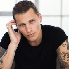 Vadim Ivanov by Yulia Chinato. Russian Male Model, Russian Models, Male Eyes, Male Face, Actors With Tattoos, Rare Eye Colors, Photo Shoot Tips, Russian Tattoo, Russian Boys