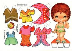 View all images at Paper Dolls folder All Paper, Paper Art, Paper Crafts, Sweet Memories, Childhood Memories, Paper Dolls Printable, Vintage Paper Dolls, Vintage Toys, Paper Toys