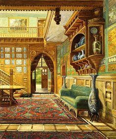 William Kenrick , Hall of the Grove - Harborne, 1877 - Victoria & Albert Museum.