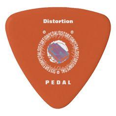 Guitar Distortion Pedal, Purple and Orange, 2 sided #guitarpicks #guitar #picks #footpedals #distortionpedal