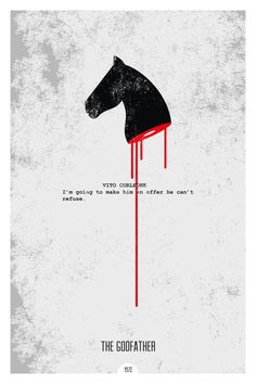 The Godfather (1972) ~ Minimal Movie Quote Poster by Dope Prints #amusementphile Minimalist Coppola