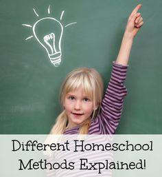 Different homeschooling methods explained!