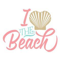 Silhouette Design Store: i heart the beach