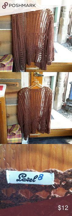 Cute sweater jacket Cute, open crochet knit Level 8 Sweaters