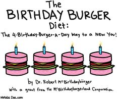 Comic by Natalie Dee: the number one diet book in america
