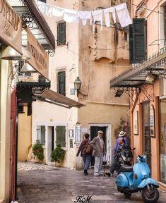Streets of Corfu Island, Greece Corfu Island, Corfu Greece, Southern Europe, Greek Life, Albania, Greek Islands, Ancient Greek, Travel Photos, Places Ive Been