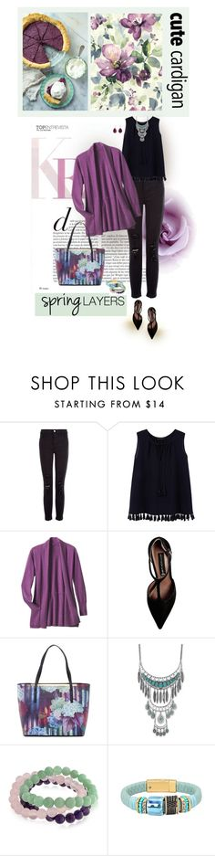 """""""Spring Layers"""" by sherry7411 ❤ liked on Polyvore featuring J Brand, Violeta by Mango, TravelSmith, Steve Madden, Ted Baker, Lucky Brand, Bling Jewelry, cutecardigan and springlayers"""