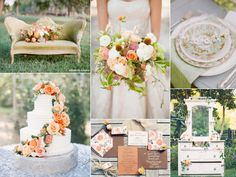 Green and orange wedding   http://burnettsboards.com/2013/11/green-orange-autumn-wedding/
