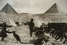 Pyramids - egypt world-war-one