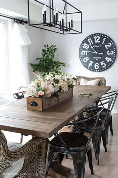 Modern farmhouse dining room MichaelsMakers  AKA Designs