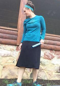 Revamped Straight-A Swim Skirt Modest Running Skirt by SheRuns2Win