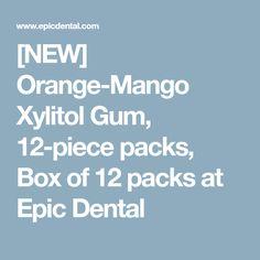[NEW] Orange-Mango Xylitol Gum, 12-piece packs, Box of 12 packs at Epic Dental