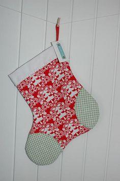 Christmas Stocking - Michael Miller Funky Christmas Lime Folkart ...