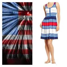 The Shaggy Palm Tree: Old Navy red white and blue dress 7-4-13 independent day July