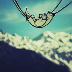 These Paper Art Photos Follow a Stick Figure on Real World Adventures #backyard trendhunter.com