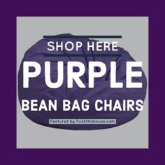Shop Here for Purple Bean Bag Chairs. Purple bean bag chairs in various styles and sizes. #purplebeanbag #purplechairs #beanbagchairs #purpledecor #funkthishouse