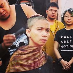 Pro-democracy #activists had their heads shaved during a ceremony to #protest against #China's decision on #HongKong #elections. | http://www.weprotestify.com/hongkong | #OccupyCentral