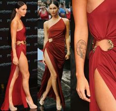 Oooooh woud love to pull this one off!!! Megan Fox's Leggy Red Dress at Berlin Premiere #oscardresses #oscarfashion