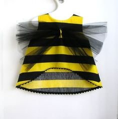 Bumble Bee Toddler Costume and Floral Head band