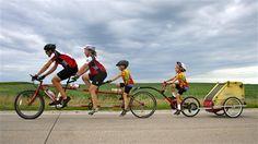 Family tandem bike ride