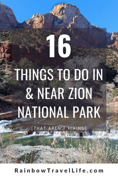 It's no secret Zion National Park is known for its hiking. But let's talk about what else is around the area to enjoy! Zion Utah, Zion Park, Zion Canyon, Grand Canyon, Bryce Canyon, Bryce National Park, Us National Parks, Utah Vacation, Vacation Ideas