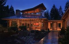 Exotic wooden home  #design