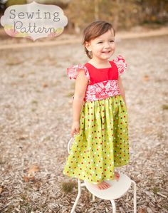 Melody Dress (Sizes 3 mos to Size 6) PDF Sewing Pattern and Tutorial. $6.00, via Etsy.