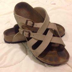Authentic Birkenstock Sandals Authentic Birkenstock Sandals in good condition . Have tons of life left ! Very nice ! Just needs a good home Birkenstock Shoes Sandals