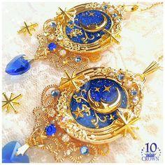 埋め込み Kawaii Jewelry, Kawaii Accessories, Cute Jewelry, Jewelry Accessories, Diy Jewelry, Magical Jewelry, Resin Charms, Cute Charms, Fantasy Jewelry