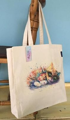 Range of gifts designed by Sophie Appleton Artist. Printed and Embroidery Tote Bags. Postage worldwide from U. Cat Paintings, Swirls, Reusable Tote Bags, Prints, Country, Shop, Rural Area, Country Music, Store