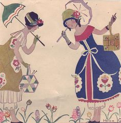 Springtime conversation by Helen Grant from Needlecraft Mag 1927 by katinthecupboard, via Flickr