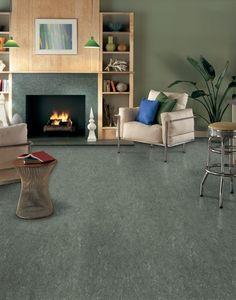 Grey linoleum floor