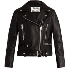 Acne Studios Mock leather biker jacket ($1,650) ❤ liked on Polyvore featuring outerwear, jackets, acne, coats & jackets, jaqueta, moto jacket, genuine leather jackets, leather motorcycle jacket, slim fit jackets and slim fit leather jacket