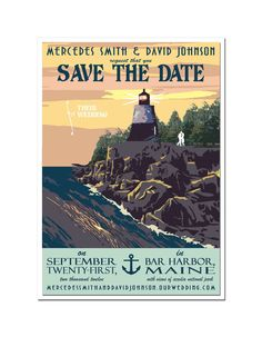 5 x 7 panel save the date  - inkjet printed on white card stock  - double layered card - 110lb white card stock matting  - navy envelope with wrap