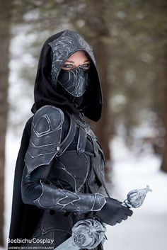 Beebichu's Costume Creations: How to make Skyrim armor: Nightingale set with bow and sword Like this.